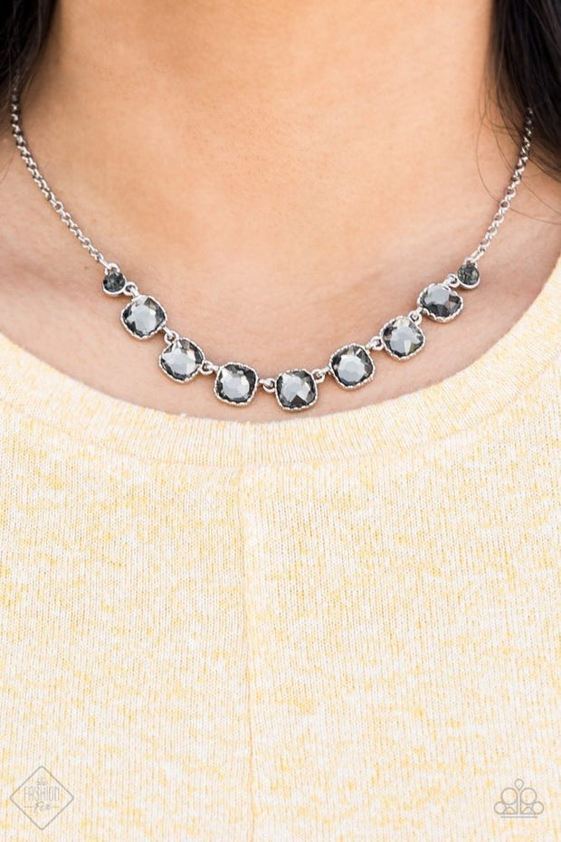 Deluxe Luxe Silver Necklace Fashion Fix Exclusive - Glitzygals5dollarbling Paparazzi Boutique
