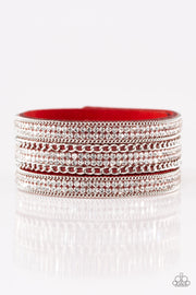Dangerously Drama Queen Red Urban Bracelet - Glitzygals5dollarbling Paparazzi Boutique