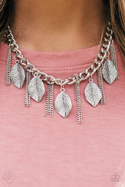 Paparazzi Serenely Sequoia Silver Necklace Set - Glitzygals5dollarbling Paparazzi Boutique