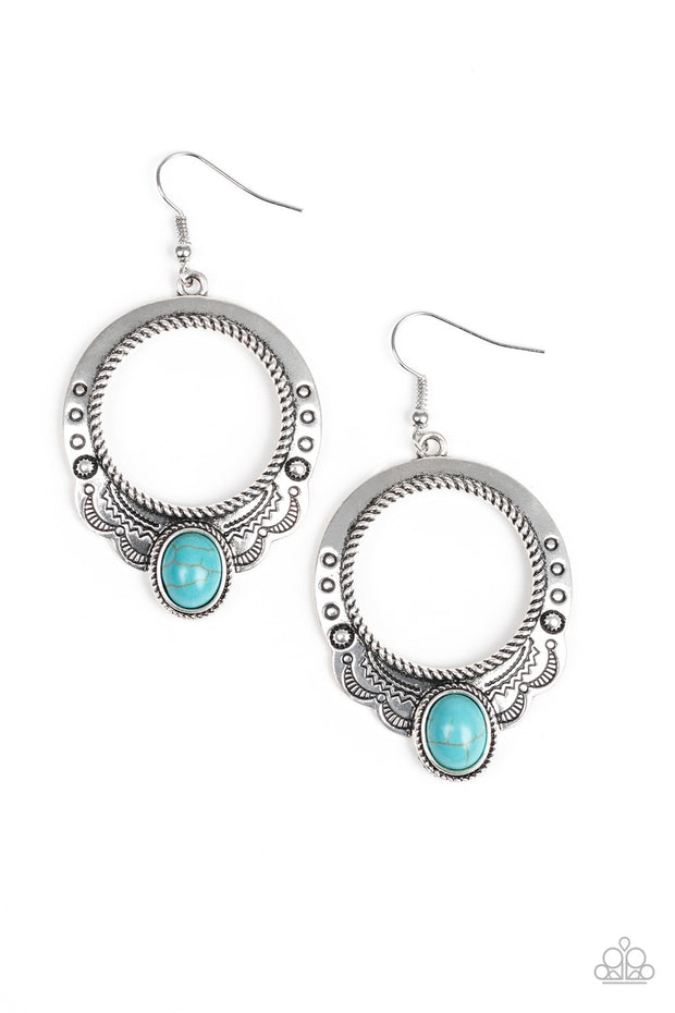 Paparazzi Natural Springs Blue Turquoise Earrings