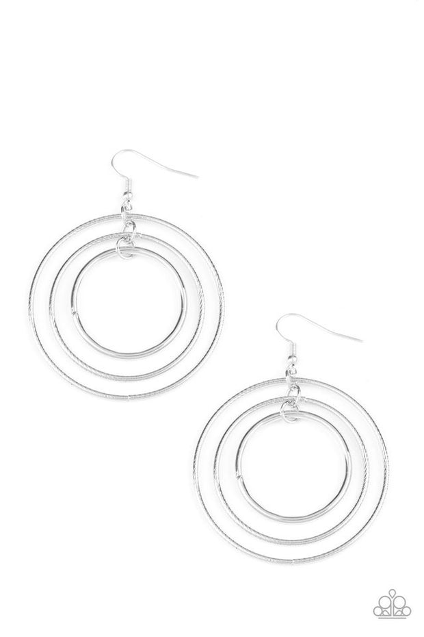 "Paparazzi ""Rippling Radiance"" Silver Earrings - Glitzygals5dollarbling Paparazzi Boutique"