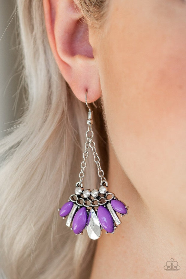 Terra Tribe - purple - Paparazzi earrings - Glitzygals5dollarbling Paparazzi Boutique