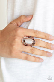 Paparazzi Fairytale Flair - Copper - Cat's Eye Stone - Filigree Ring - Glitzygals5dollarbling Paparazzi Boutique
