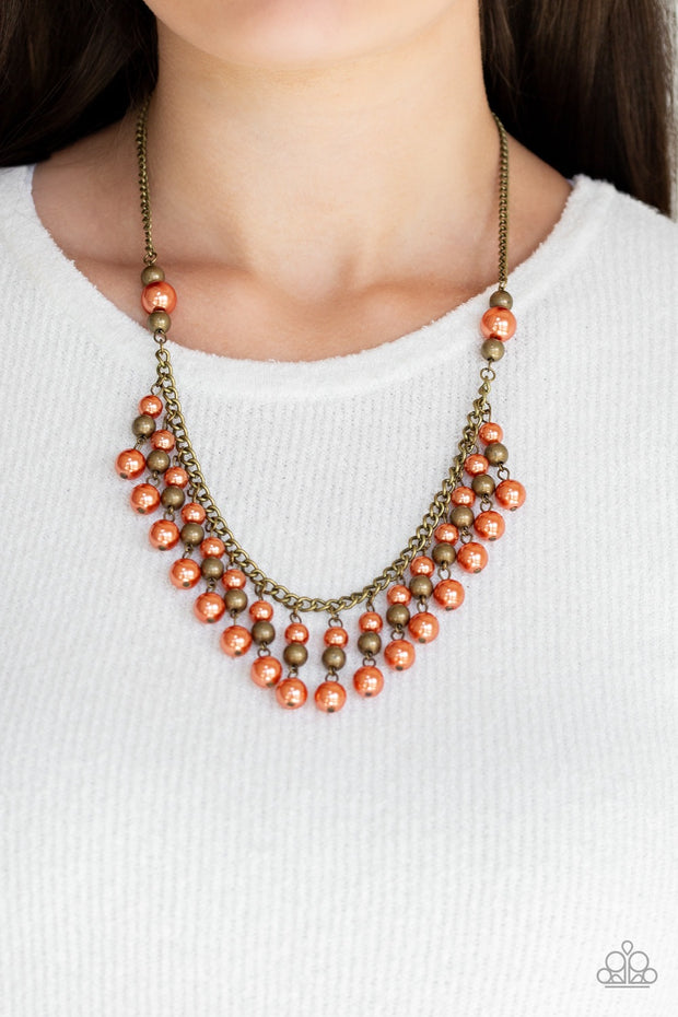 Paparazzi Location, Location, Location! Orange Necklace - Glitzygals5dollarbling Paparazzi Boutique