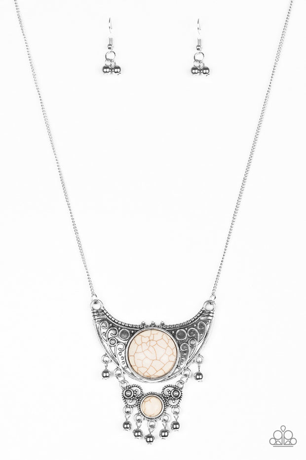 Paparazzi Summit Style White Necklace - Glitzygals5dollarbling Paparazzi Boutique