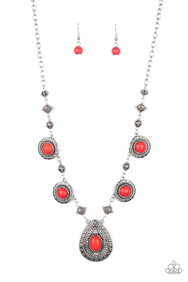 Mayan Magic - red - Paparazzi necklace