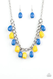 "Paparazzi ""Take The COLOR Wheel!"" Multi Necklace Blue and Yellow - Glitzygals5dollarbling Paparazzi Boutique"