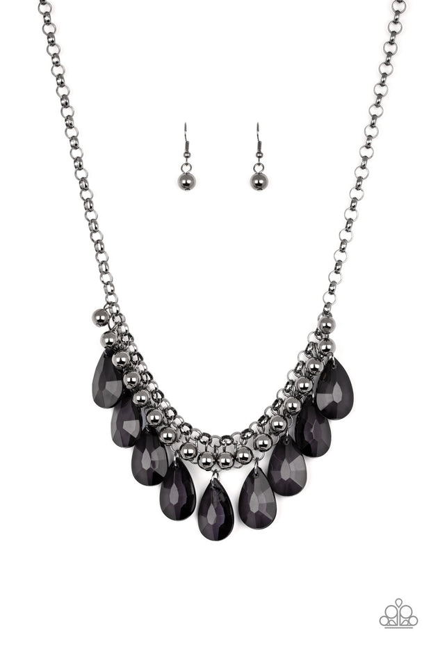 Paparazzi Fashionista Flair - Black Necklace - Glitzygals5dollarbling Paparazzi Boutique
