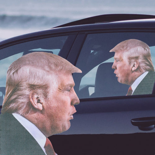 Ride With Trump - Car Window Decal | Cookie Jar - Home of the Coolest Gifts, Toys & Collectables