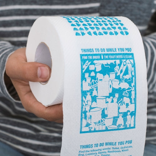 Things to do While you Poo Toilet Roll | Cookie Jar - Home of the Coolest Gifts, Toys & Collectables