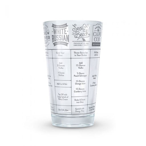 Fred - Good Measure Vodka Recipe Glass | Cookie Jar - Home of the Coolest Gifts, Toys & Collectables