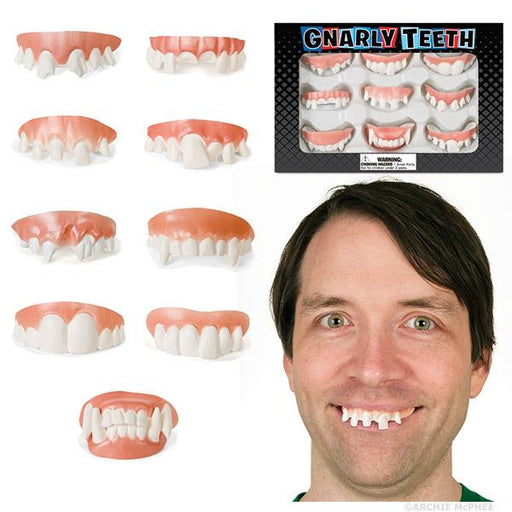 Archie McPhee - Set of 9 Gnarly Teeth | Cookie Jar - Home of the Coolest Gifts, Toys & Collectables