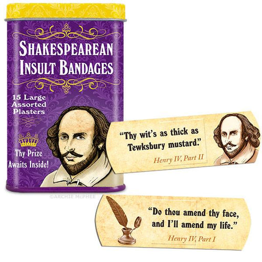 Archie McPhee - Shakespearean Insult Bandages | Cookie Jar - Home of the Coolest Gifts, Toys & Collectables