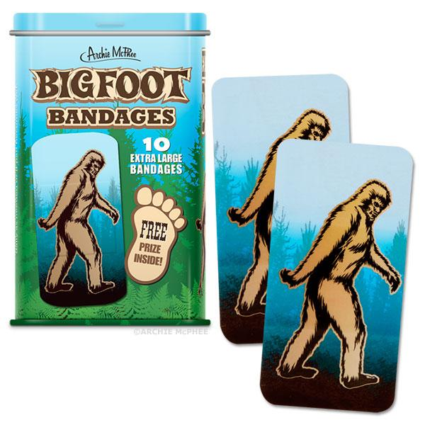 Archie McPhee - Bigfoot Bandages | Cookie Jar - Home of the Coolest Gifts, Toys & Collectables