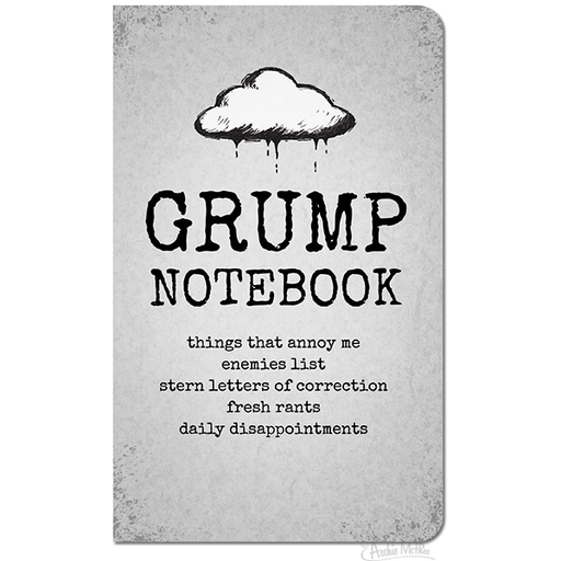 Archie McPhee - Big Grump Notebook | Cookie Jar - Home of the Coolest Gifts, Toys & Collectables