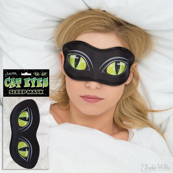 Archie McPhee - Cat Eyes Sleep Mask | Cookie Jar - Home of the Coolest Gifts, Toys & Collectables