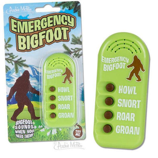 Archie McPhee - Emergency Bigfoot | Cookie Jar - Home of the Coolest Gifts, Toys & Collectables