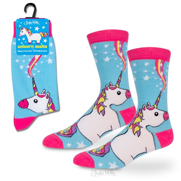 Archie McPhee - Unicorn Socks | Cookie Jar - Home of the Coolest Gifts, Toys & Collectables