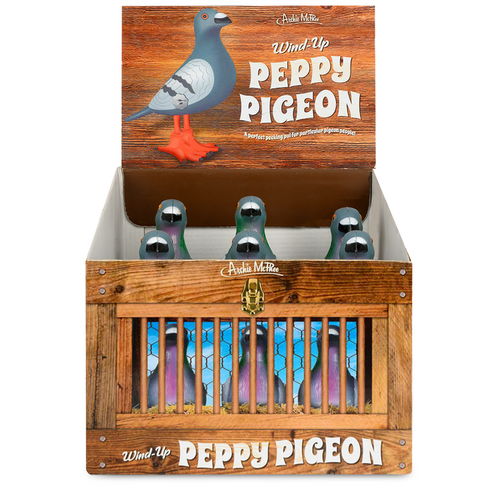Archie McPhee - Wind-Up Peppy Pigeon | Cookie Jar - Home of the Coolest Gifts, Toys & Collectables