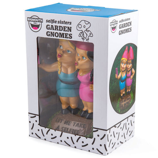 BigMouth The Selfie Sisters Gnome | Cookie Jar - Home of the Coolest Gifts, Toys & Collectables