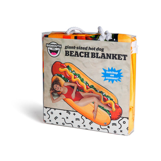 BigMouth Gigantic Hotdog Beach Blanket | Cookie Jar - Home of the Coolest Gifts, Toys & Collectables