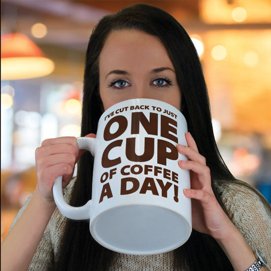 BigMouth One Cup Of Coffee! GIANT Mug | Cookie Jar - Home of the Coolest Gifts, Toys & Collectables