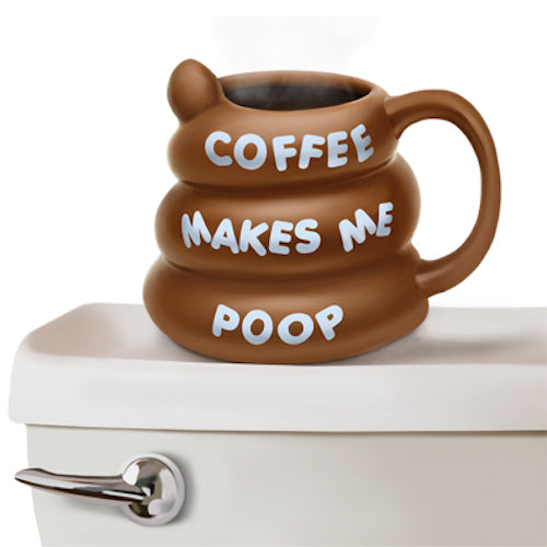 BigMouth Coffee Makes Me Poop Mug | Cookie Jar - Home of the Coolest Gifts, Toys & Collectables