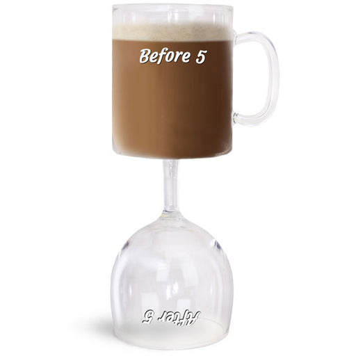 BigMouth Before & After 5 Coffee & Wine Glass | Cookie Jar - Home of the Coolest Gifts, Toys & Collectables
