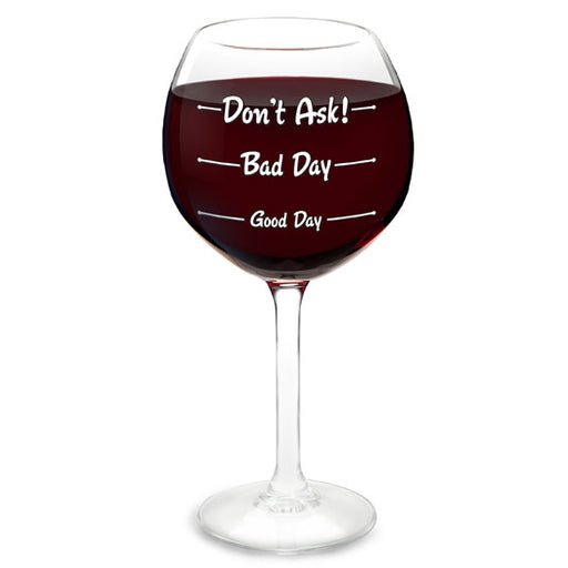 BigMouth How Was Your Day? Wine Glass | Cookie Jar - Home of the Coolest Gifts, Toys & Collectables