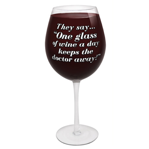 BigMouth The World's Largest Wine Glass | Cookie Jar - Home of the Coolest Gifts, Toys & Collectables