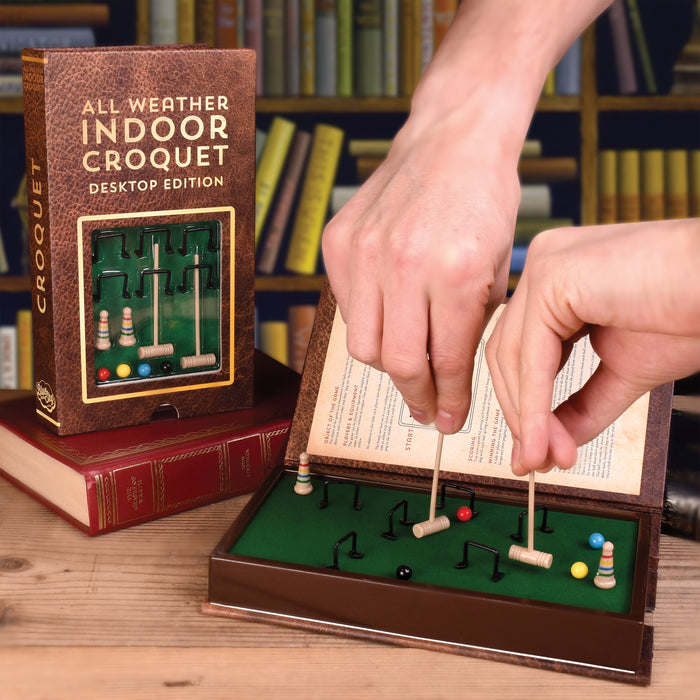 Blue Sky Studios - All Weather Indoor Croquet Desktop Edition | Cookie Jar - Home of the Coolest Gifts, Toys & Collectables