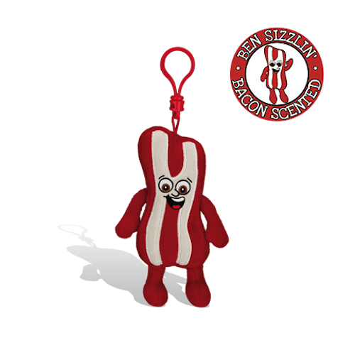 Whiffer Sniffers - Ben Sizzlin' Bacon Backpack Clip | Cookie Jar - Home of the Coolest Gifts, Toys & Collectables