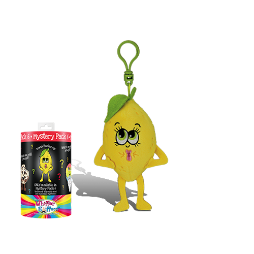 Whiffer Sniffers Mystery Pack #6 - 'Ivana Pucker-Up' Lemon Scented Backpack Clip | Cookie Jar - Home of the Coolest Gifts, Toys & Collectables