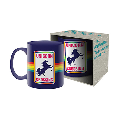 Unicorn Crossing Ceramic Mug