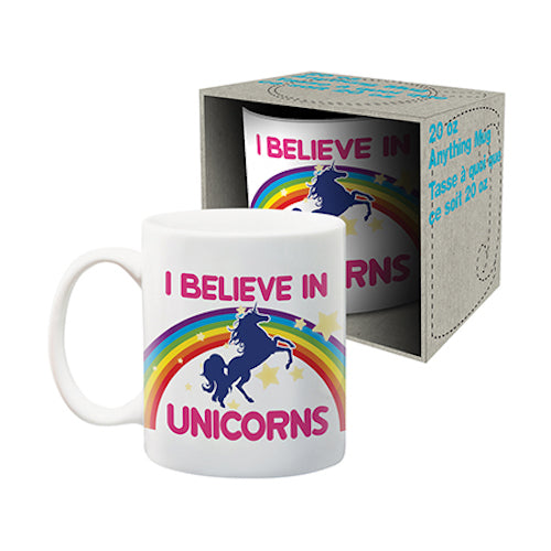 I Believe In Unicorns Jumbo Ceramic Mug | Cookie Jar - Home of the Coolest Gifts, Toys & Collectables