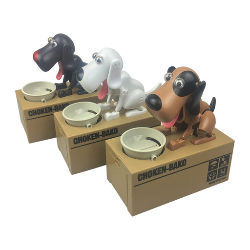 Coin Stealing Dog w/ Bowl Money Bank | Cookie Jar - Home of the Coolest Gifts, Toys & Collectables