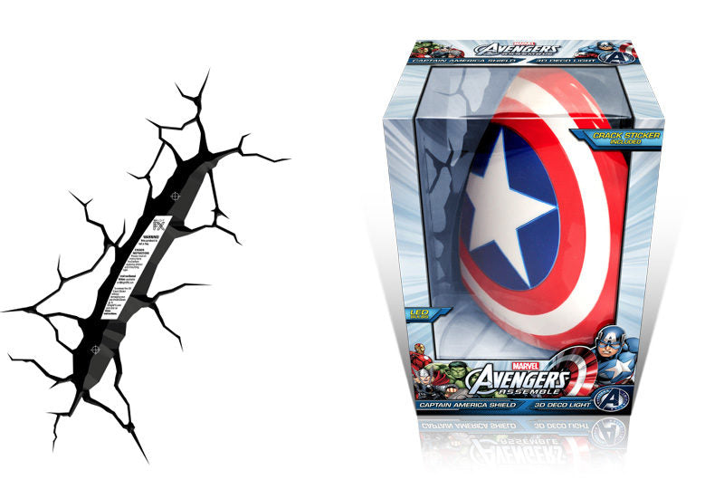 Captain America Shield 3D Wall Light | Cookie Jar - Home of the Coolest Gifts, Toys & Collectables