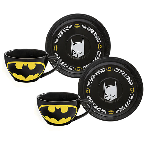 Batman Tea Cup & Saucer - Set of 2 | Cookie Jar - Home of the Coolest Gifts, Toys & Collectables