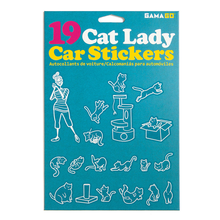 Cat Lady Car Stickers | Cookie Jar - Home of the Coolest Gifts, Toys & Collectables