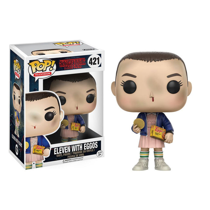 Stranger Things - Eleven with Eggos Pop! Vinyl Figure | Cookie Jar - Home of the Coolest Gifts, Toys & Collectables