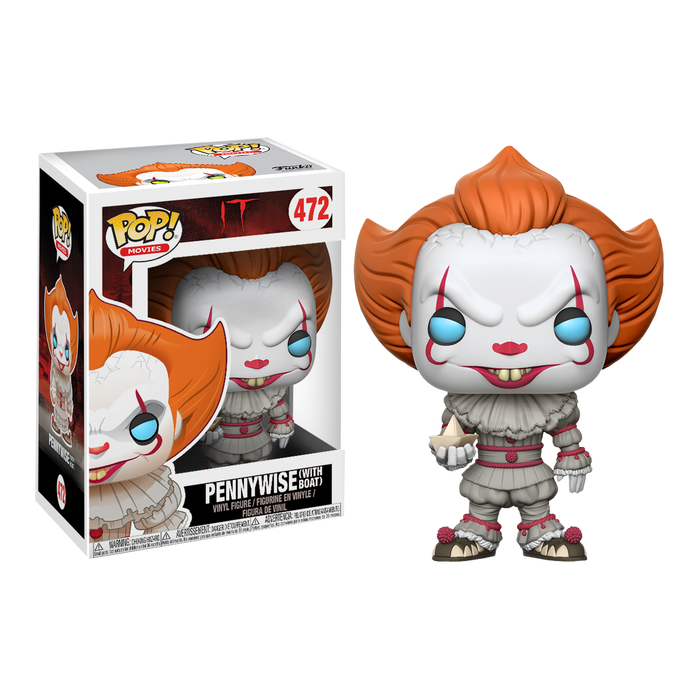 IT (2017) - Pennywise with Boat Pop! Vinyl Figure | Cookie Jar - Home of the Coolest Gifts, Toys & Collectables
