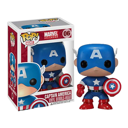 Captain America Pop! Vinyl Figure | Cookie Jar - Home of the Coolest Gifts, Toys & Collectables