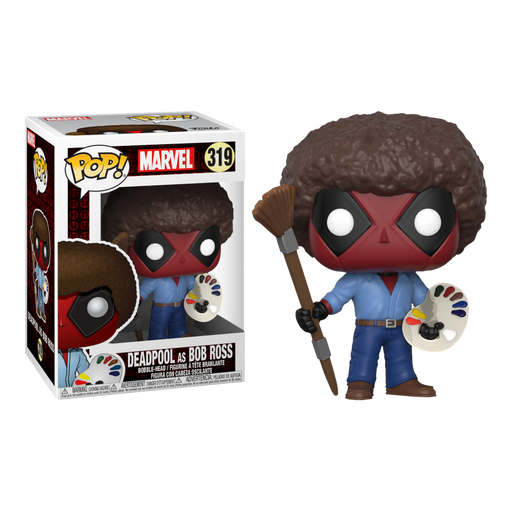 Deadpool - Playtime Bob Ross Pop! Vinyl Figure | Cookie Jar - Home of the Coolest Gifts, Toys & Collectables
