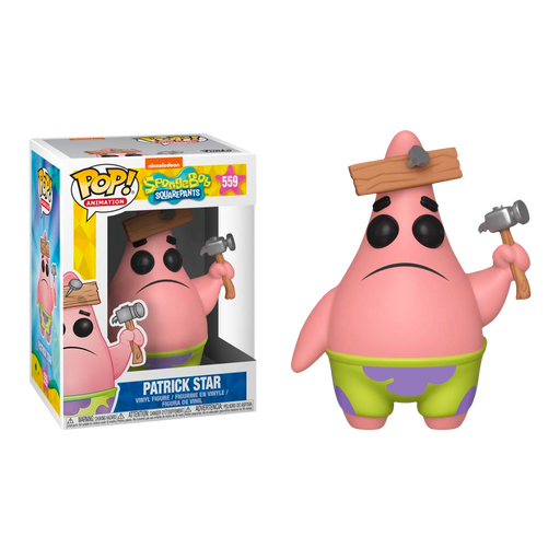 Spongebob - Patrick with Board Pop! Vinyl Figure | Cookie Jar - Home of the Coolest Gifts, Toys & Collectables