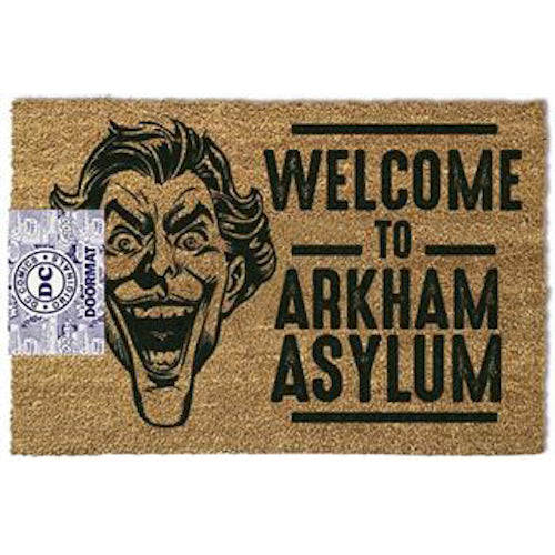 DC Comics - The Joker Welcome To Arkham Asylum Doormat | Cookie Jar - Home of the Coolest Gifts, Toys & Collectables