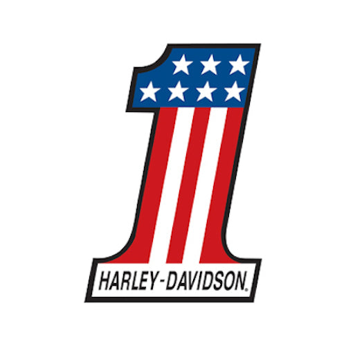 Harley Davidson Number 1 Die Cut Embossed Tin Sign | Cookie Jar - Home of the Coolest Gifts, Toys & Collectables