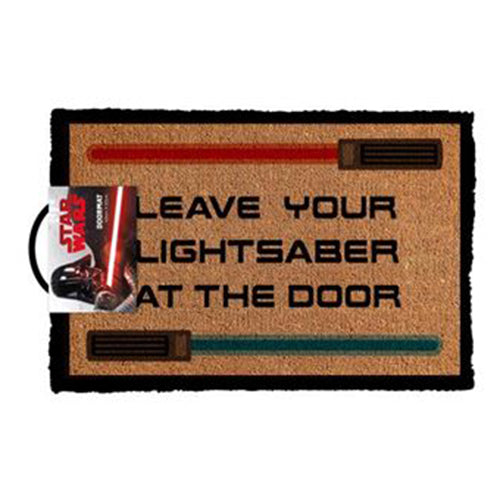 Star Wars Doormat - Leave Your Lightsaber At The Door | Cookie Jar - Home of the Coolest Gifts, Toys & Collectables