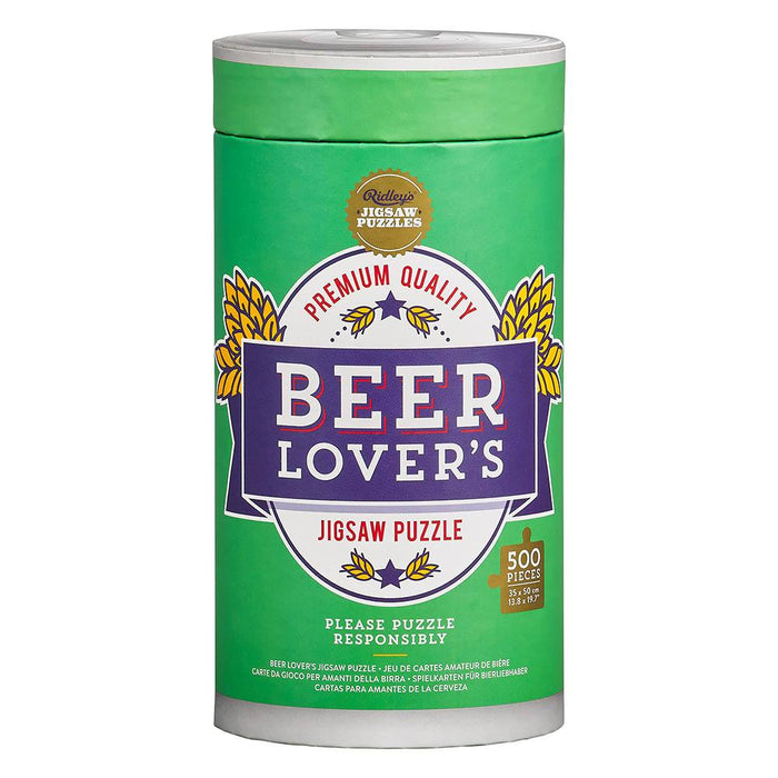 Ridley's Beer Lovers 500pc Puzzle | Cookie Jar - Home of the Coolest Gifts, Toys & Collectables