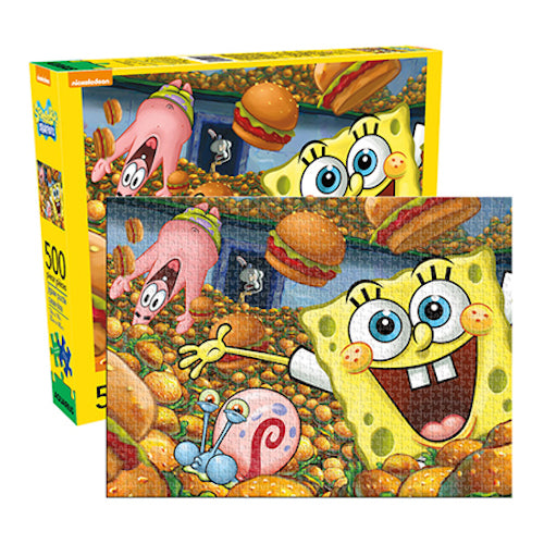 SpongeBob SquarePants - Cast 500pc Puzzle | Cookie Jar - Home of the Coolest Gifts, Toys & Collectables