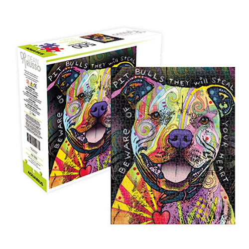 Dean Russo - Pit Bull 500pc Aquarius Select Puzzle | Cookie Jar - Home of the Coolest Gifts, Toys & Collectables